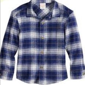 Jumping Beans  plaid flannel button down size 3t